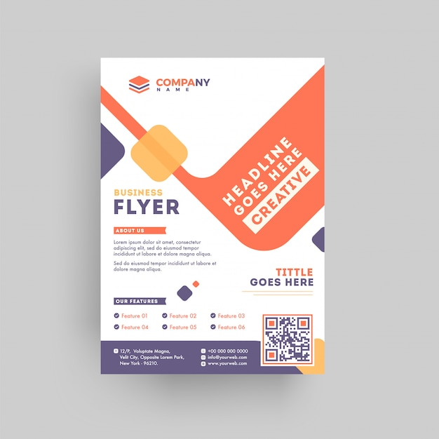 Conception de flyer ou modèle de proposition marketing entreprise.