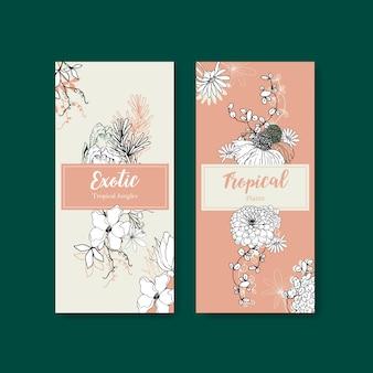 Conception de flyer tropical art en ligne