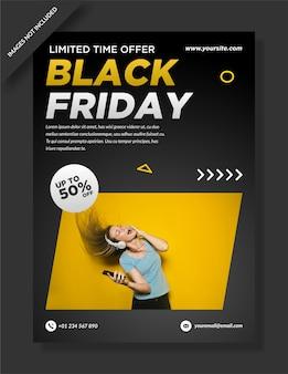 Conception de flyers, affiches et médias sociaux vendredi noir