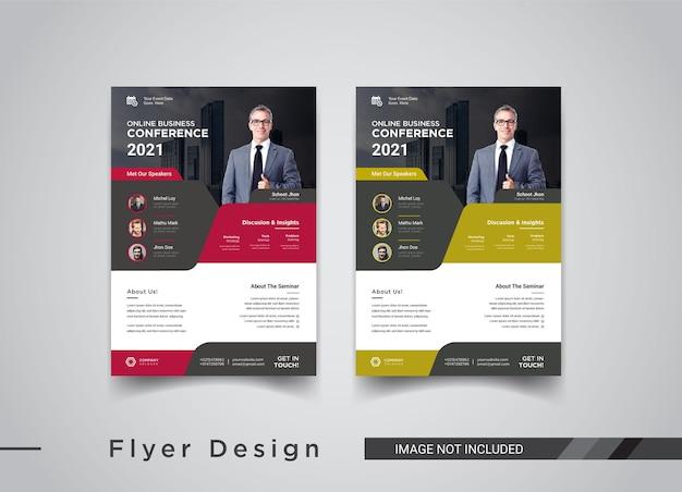 Conception de flyers de conférence d'affaires en ligne