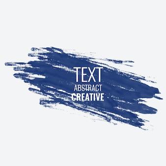 Conception de fond abstrait avc peinture bleue