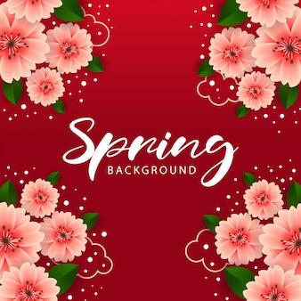 Conception de fond abstrait beau printemps