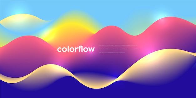 Conception de fond abstrait couleur vibrante