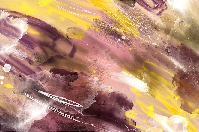 Conception de fond abstrait avec des coups de pinceau colorés