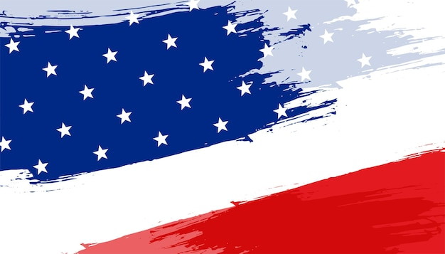Conception de fond abstrait drapeau américain
