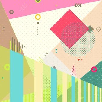 Conception de fond abstrait avec des éléments géométriques colorés
