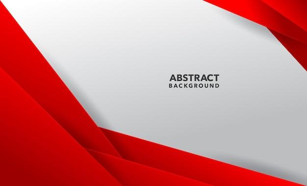 Conception de fond abstrait moderne blanc rouge