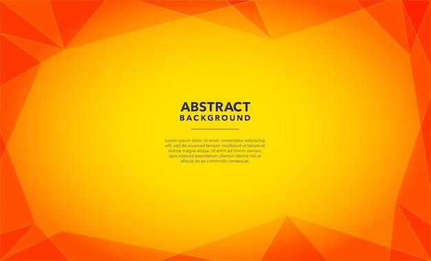 Conception de fond abstrait moderne jaune orange