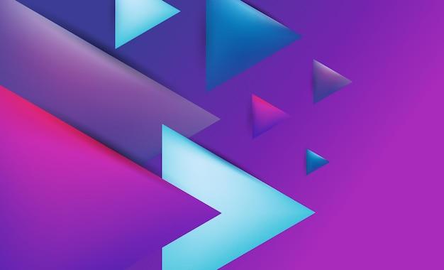 Conception de fond abstrait moderne triangle coloré