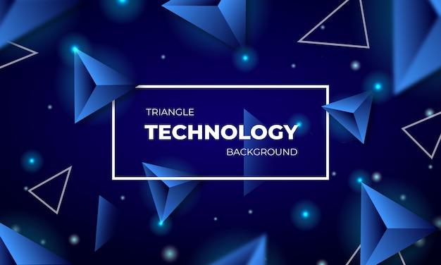 Conception de fond abstrait technologie triangle bleu
