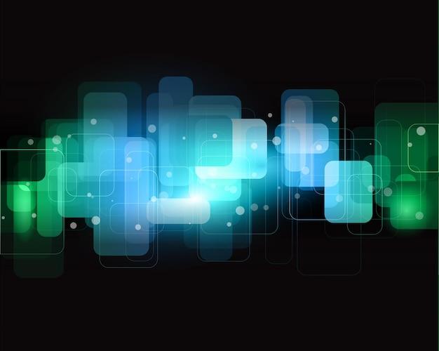 Conception de fond abstrait utilisant des teintes de bleu et de vert