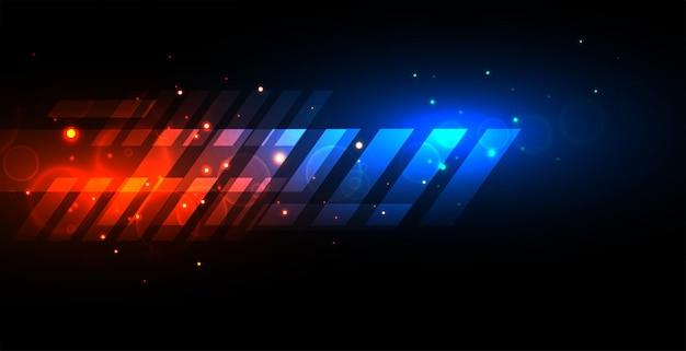 Conception de fond abstrait vitesse lumière