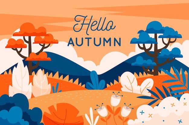Conception de fond d'automne
