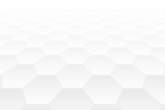 Conception de fond blanc style perspective 3d forme hexagonale
