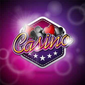 Conception de fond de casino