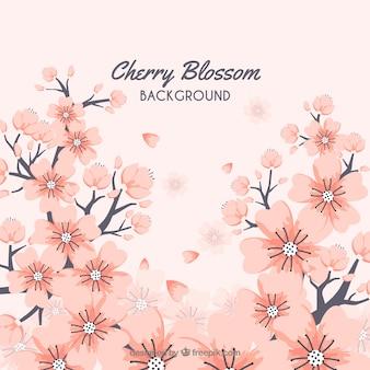 Conception de fond de cerisiers en fleurs