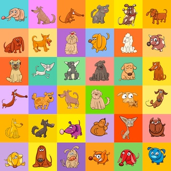 Conception de fond de chiens de dessin animé
