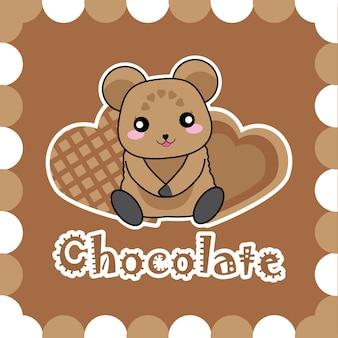 Conception de fond de chocolat