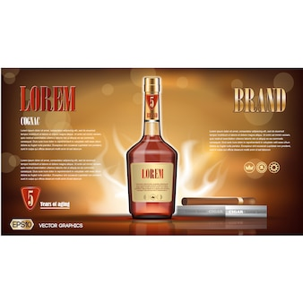 Conception de fond de cognac