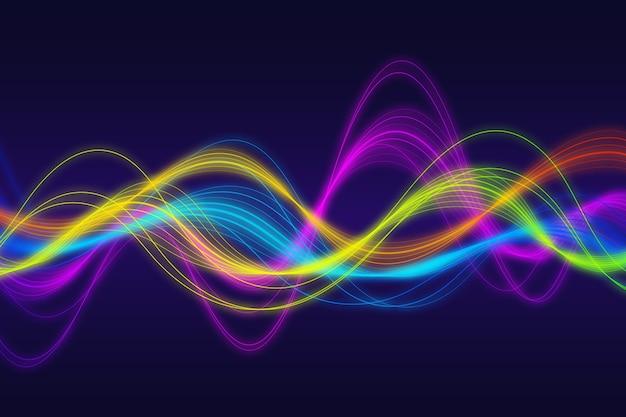 Conception de fond coloré ondulé