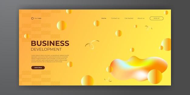 Conception de fond de couleur 3d moderne. composition de formes de dégradé fluide. affiches de design futuriste. dégradé de couleur contrastée vibrante.