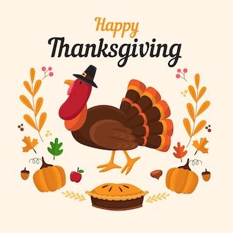 Conception de fond de dinde de thanksgiving