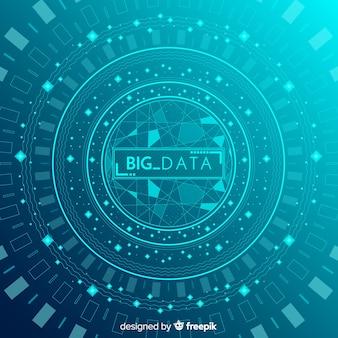 Conception de fond de données volumineuses abstraite et moderne