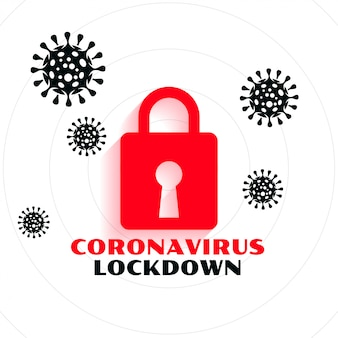 Conception de fond du concept de verrouillage de la pandémie de coronavirus covid-19