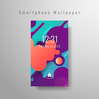 Conception de fond d'écran abstrait élégant smartphone