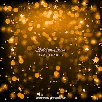 Conception de fond étoile brillante d'or
