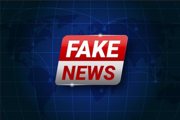 Conception de fond de fausses nouvelles