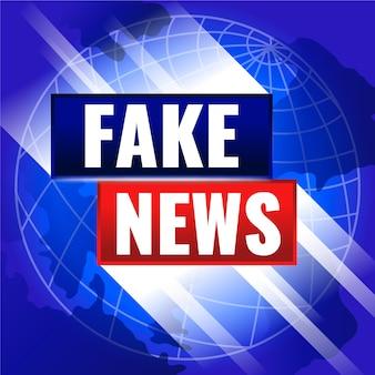 Conception de fond fausses nouvelles