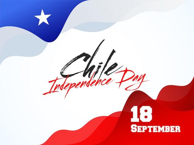 Conception de fond de la fête de l'indépendance du chili