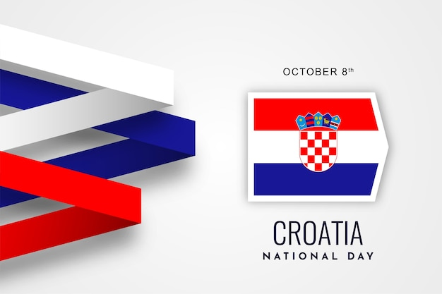 Conception de fond de la fête nationale de la croatie