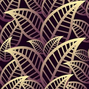 Conception de fond de feuille abstraite modèle sans couture