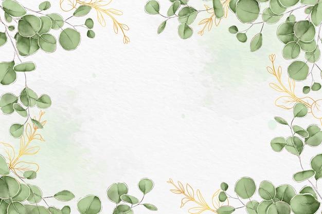 Conception de fond de feuilles