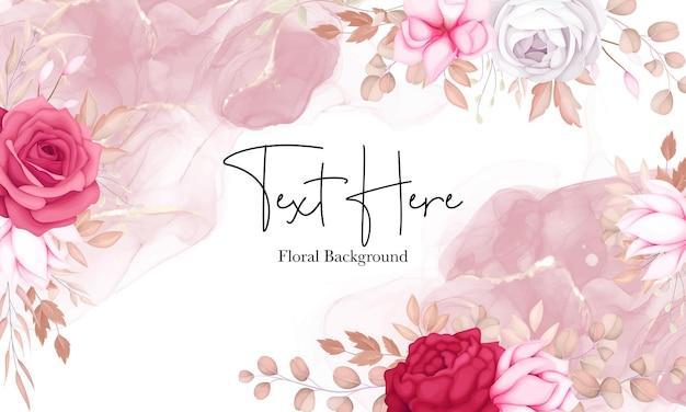 Conception de fond floral marron doux romantique