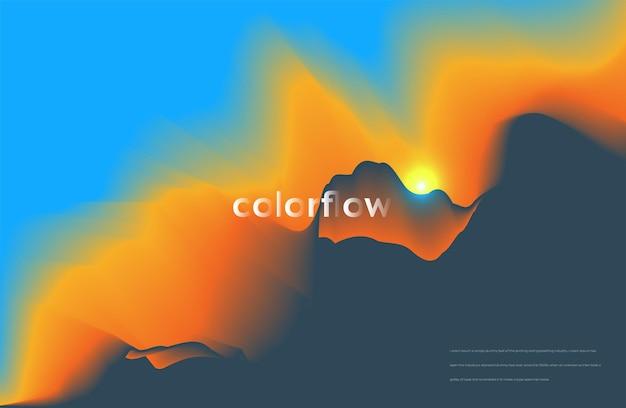 Conception de fond fluide coloré abstrait