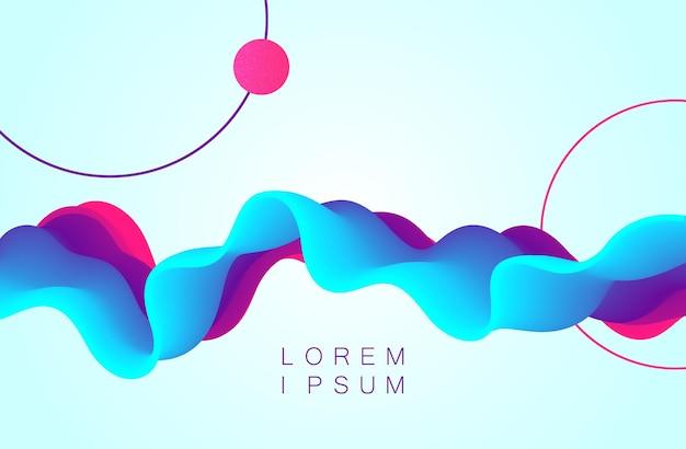 Conception de fond de flux dynamique de vague de couleur de vecteur. abstrait ondulé avec des couleurs dégradées modernes.
