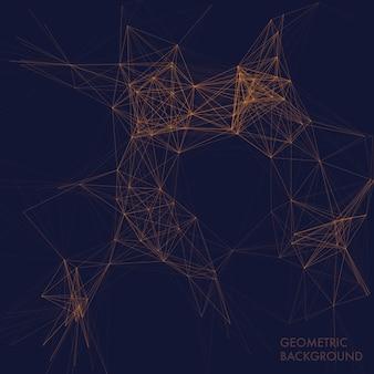 Conception de fond géométrique polygone