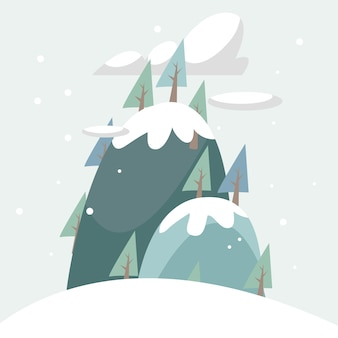 Conception de fond d'hiver
