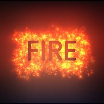 Conception de fond d'incendie