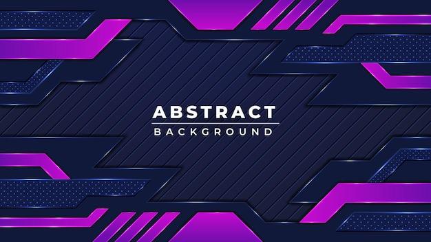 Conception de fond de jeu futuriste coloré abstrait moderne avec la couleur noire et violette