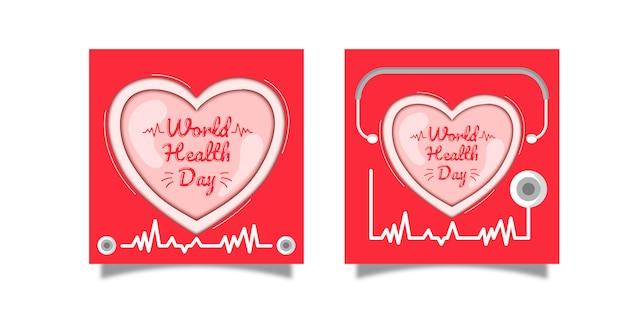 Conception de fond de la journée internationale de la santé premium