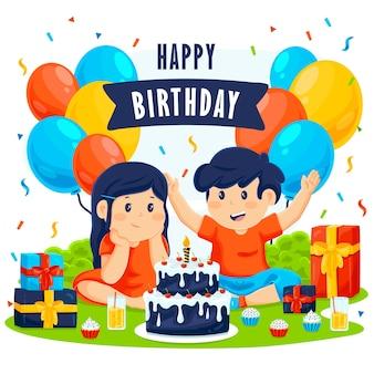 Conception de fond de joyeux anniversaire