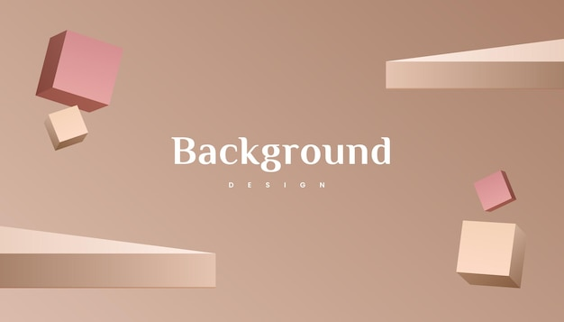 Conception de fond de luxe dégradé or brun 3d abstrait.
