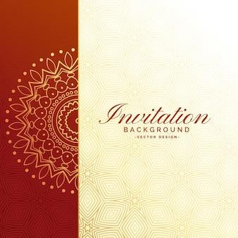Conception de fond de luxe invitation premium