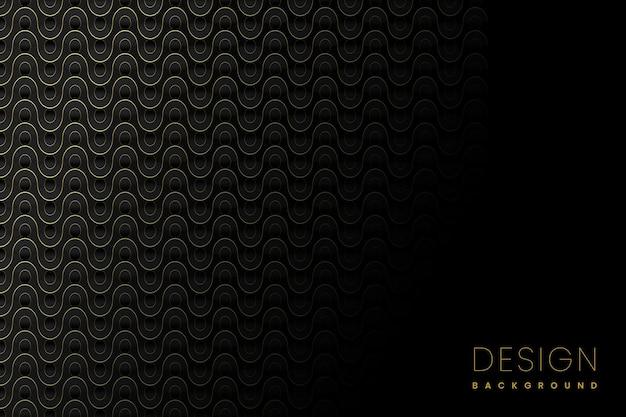 Conception de fond de luxe de style papier avec fichier vectoriel d'effet de lignes ondulées dorées