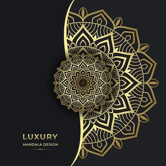 Conception de fond de mandala ornemental de luxe vecteur premium