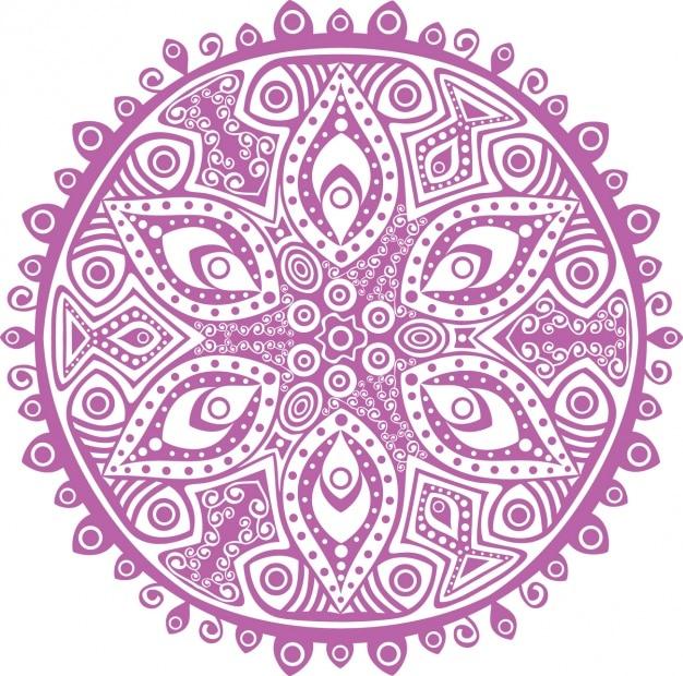 Conception De Fond Mandala Vecteur gratuit